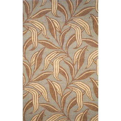 Ravella Rug-Leaf Design- 3 X 2, Nuetral