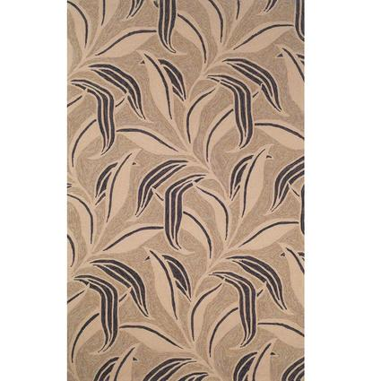 Ravella Rug-Leaf Design- 10 X 8, Neutral