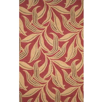Ravella Rug-Leaf Design-10 X 8, Red