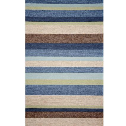 Ravella Rug-Stripe- 8' Square, Denim
