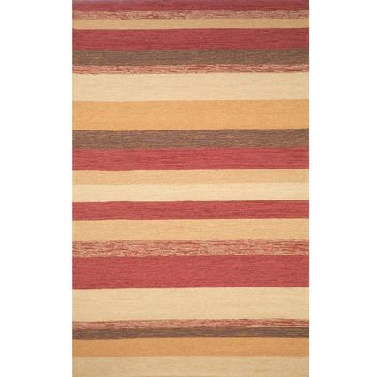 Ravella Rug-Stripe-8' Square, Red