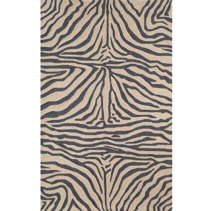 Ravella Rug- Zebra- 8' Square, Black