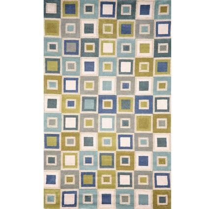 Spello Rug- Big Circles- 8 X 2, Ocean