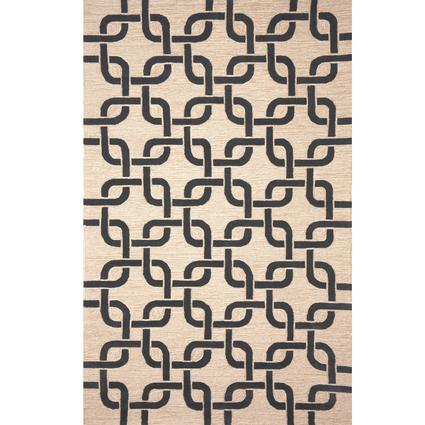 Spello Rug- Chains- 3 X 2, Black