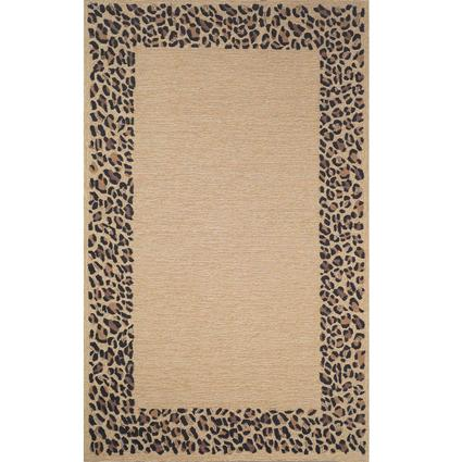 Spello Rug- Leopard Border- 5.5 X 3.5, Neutral