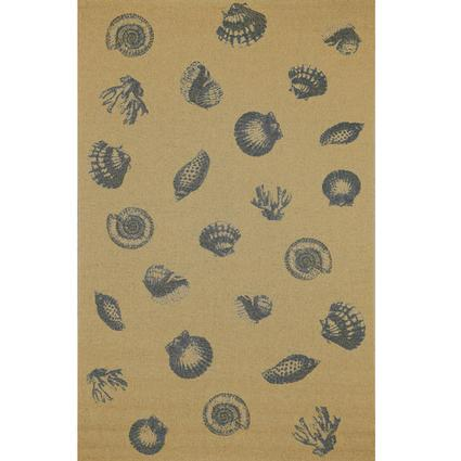 Tropez Collection Rug – Sea Shell-Blue 9'10