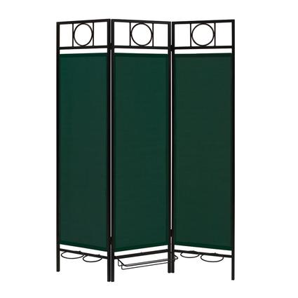 Contemporary Privacy Screen, Black Frame- Forest Green