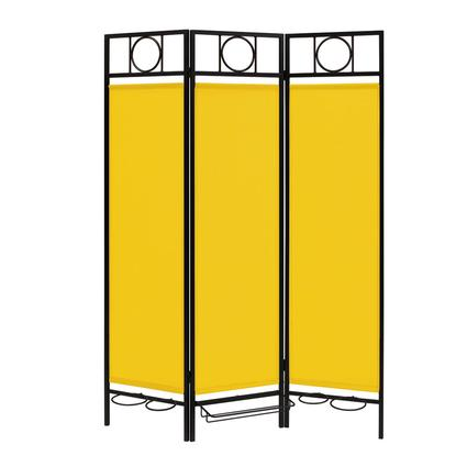 Contemporary Privacy Screen, Black Frame- Yellow