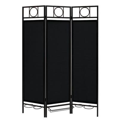 Contemporary Privacy Screen, Black Frame- Ebony