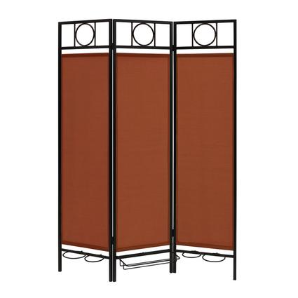 Contemporary Privacy Screen, Black Frame- Terracotta