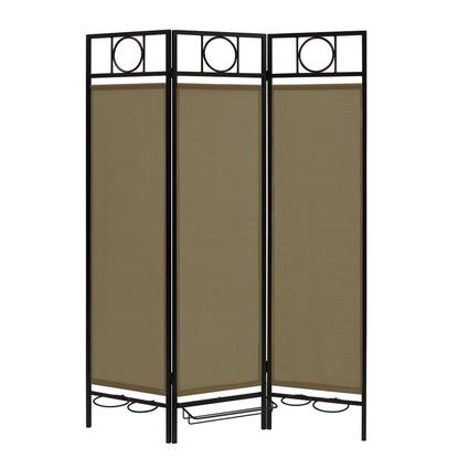 Contemporary Privacy Screen, Black Frame- Sage