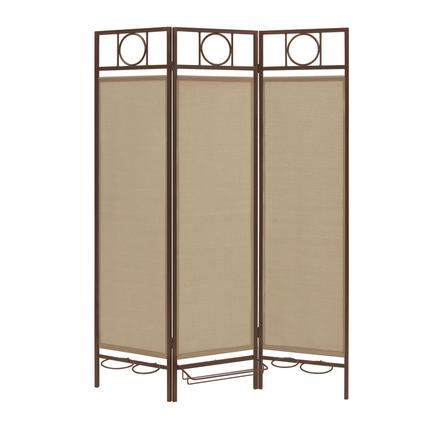 Contemporary Privacy Screen, Bronze Frame- Sand