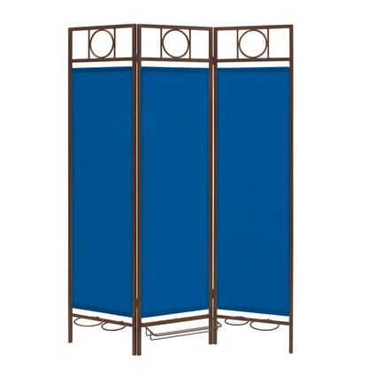 Contemporary Privacy Screen, Bronze Frame- Pacific Blue