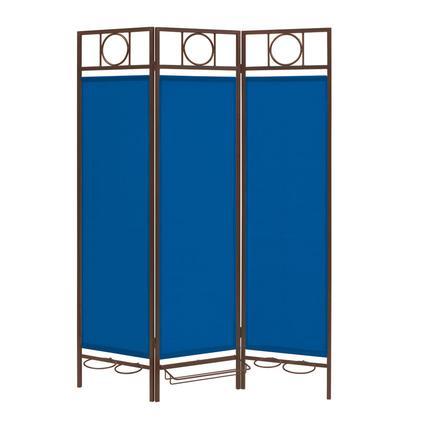 Contemporary Privacy Screen, Bronze Frame- Pacific Blue