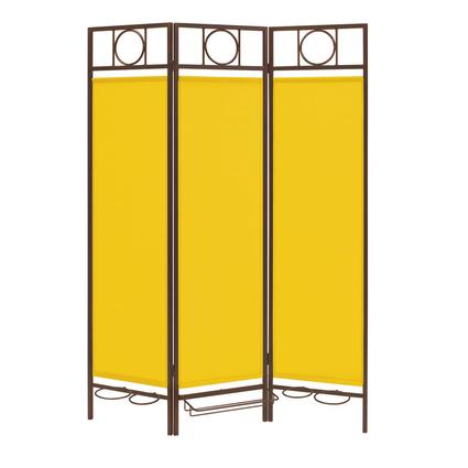 Contemporary Privacy Screen, Bronze Frame- Yellow