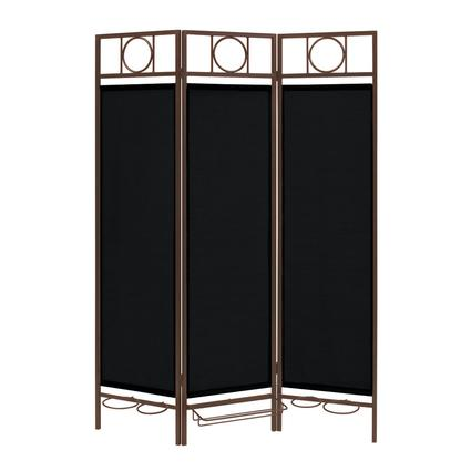 Contemporary Privacy Screen, Bronze Frame- Ebony