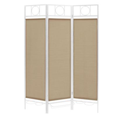 Contemporary Privacy Screen, White Frame- Sand