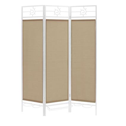 Contemporary Privacy Screen, Black Frame- Sand