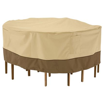 Veranda Collection Patio Furniture Covers-Tall Round Table & Chair Cover