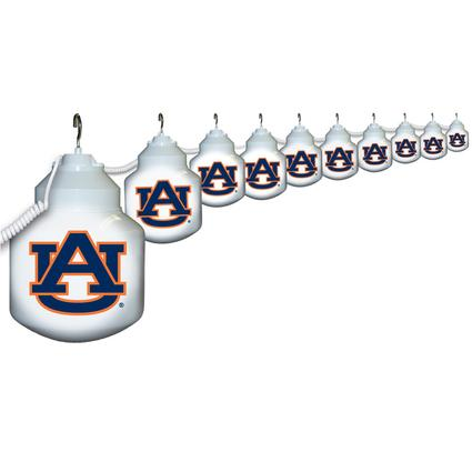 Collegiate Patio Globe Lights, 10 light sets-Auburn