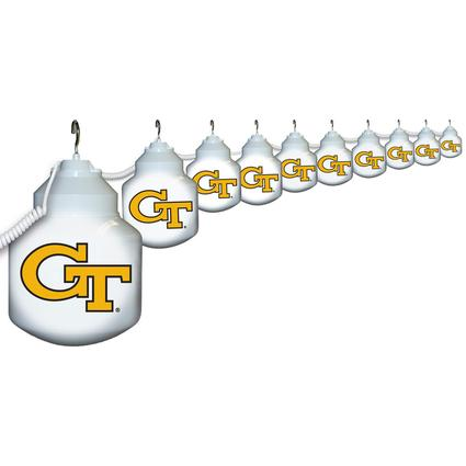Collegiate Patio Globe Lights, 10 light sets-Georgia Tech