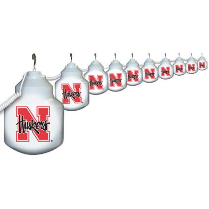 Collegiate Patio Globe Lights, 10 light sets-Nebraska