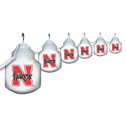 Collegiate Patio Globe Lights, 6 light sets-Nebraska