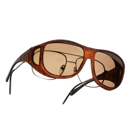 Cocoons OveRx Sunglasses - Large, Tortoise Frame/Amber Lenses