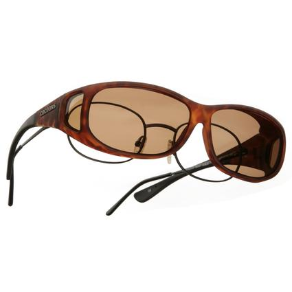Cocoons OveRx Sunglasses - Mini Medium/Small, Tortoise Frame/Amber Lenses