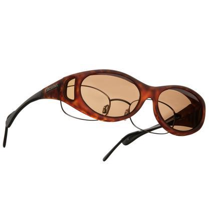 Cocoons OveRx Sunglasses - Stream Line Small, Tortoise Frame/Amber Lenses