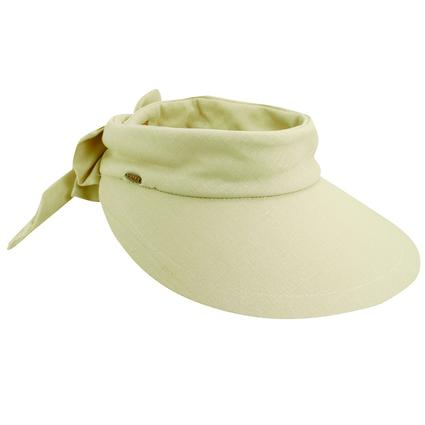 Ladies' Bow Visor- Natural