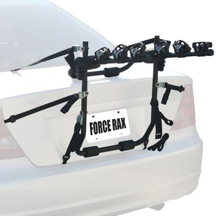 Force Rax Deluxe 3 Bike Trunk Car Rack