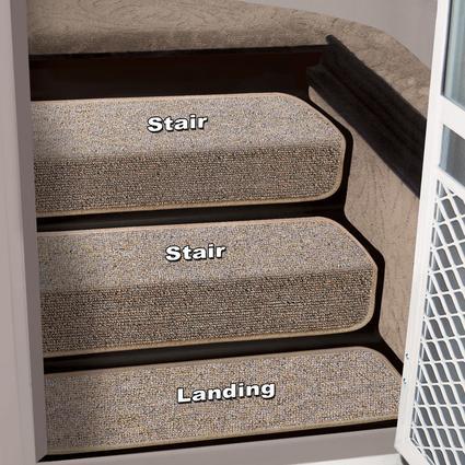 Decorian 6 Inch Step Hugger Landing Rug - Sandstone