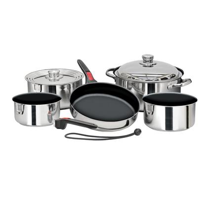 Magma Stainless Steel Nesting RV Cookware, 10 pc Non-Stick