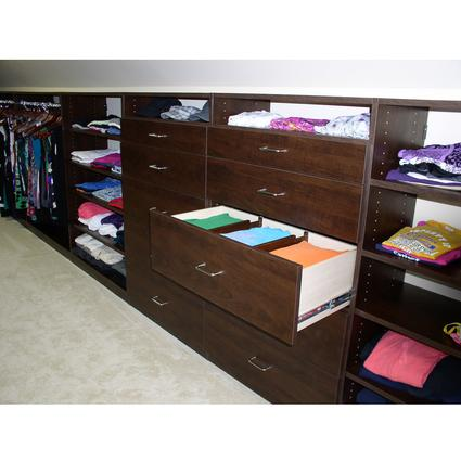 Expandable Closet Drawer Dividers - Walnut