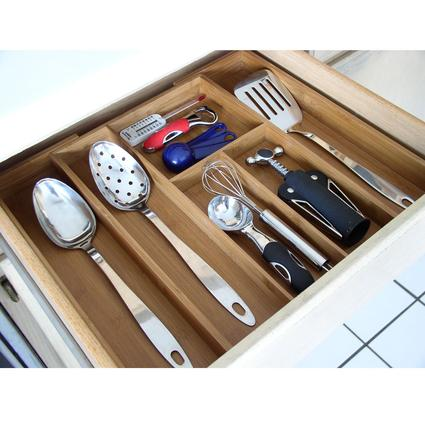 Bamboo Utensil Drawer Organizer