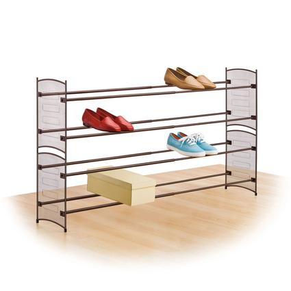 Expandable/ Stackable Mesh Shoe Rack
