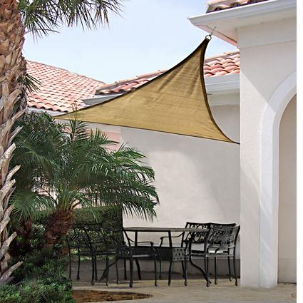 ShadeLogic Sun Shade Sail, Triangle 16' x 16' x 16'