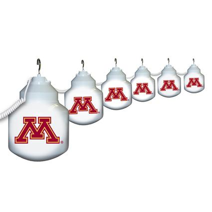 Collegiate Patio Globe Lights, 6 light set- Minnesota
