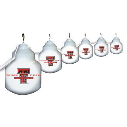 Collegiate Patio Globe Lights, 6 light sets- Texas Tech