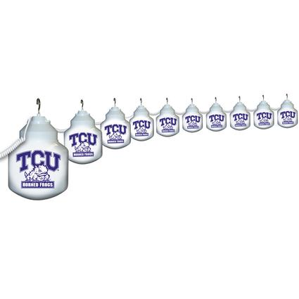 Collegiate Patio Globe Lights, 10 light sets-TCU