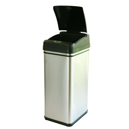 iTouchless Deodorizer 13 Gallon Stainless Steel Touchless Trash Can with Carbon Filter Technology