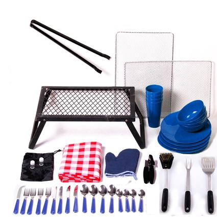 43 Piece Camping Set - Blue