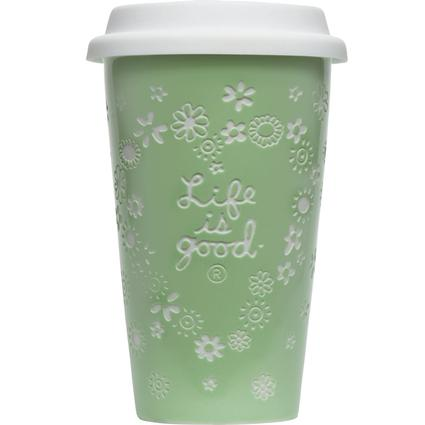 Ceramic Tumbler, 9 oz.- Spring Green