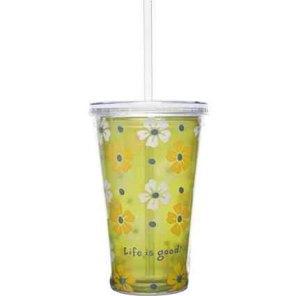 Cup & Straw, 18 oz.- Spring Green