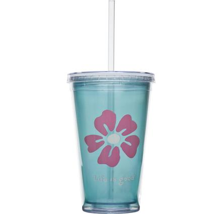 Cup & Straw, 18 oz.- Beach House Blue