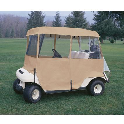 Deluxe 4-Sided Golf Car Enclosure