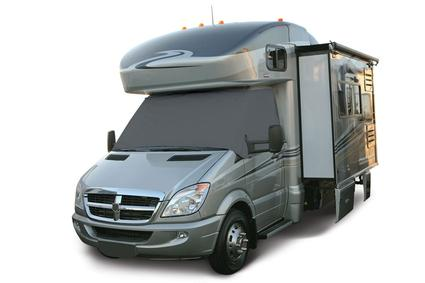 RV Windshield Cover with Cutouts - Grey, Ford, 2004-current