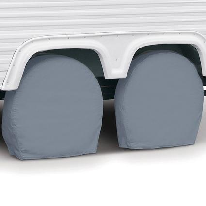 Grey RV Wheel Covers, Set of 2