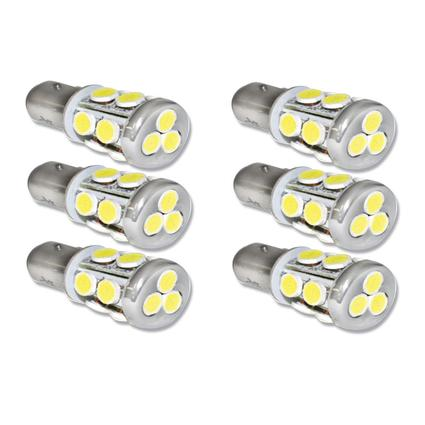 LED Multidirectional Radial Tower Bulb with BAY15D Double Contact - 6 Pack.